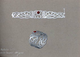 Silver Bracelet Drawing by GeshaR