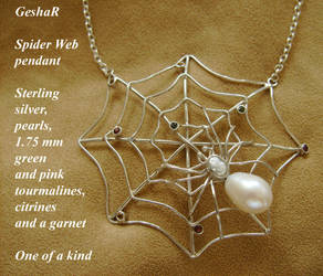 Spider Web Pendant by GeshaR