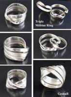Triple Mobius Ring by GeshaR