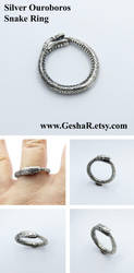 Ouroboros Ring by GeshaR