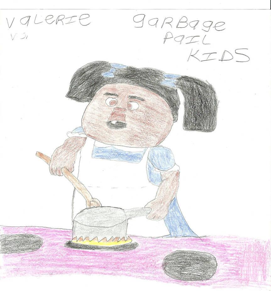 valerie vomit,garbage pail kids, by darkc3po