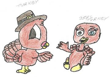 boy and  girl turkey by darkc3po