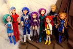 Phantasy Star 2 custom dolls, complete cast. by cimmerianwillow