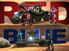 Red vs. Blue by omegafactor90