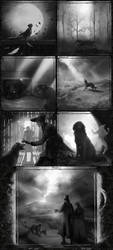 A Night in the Lonesome Inktober 4 by ViaEstelar