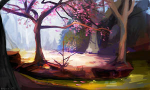 kawaii trees by OrcaOwl