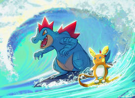 Surfing Pokes by OrcaOwl