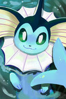 Vaporeon by OrcaOwl