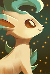 Leafeon by OrcaOwl