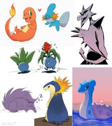 Pokemon Ko-Fi Doodles by OrcaOwl