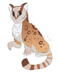 Owl / Snow Leopard Adoptable by OrcaOwl