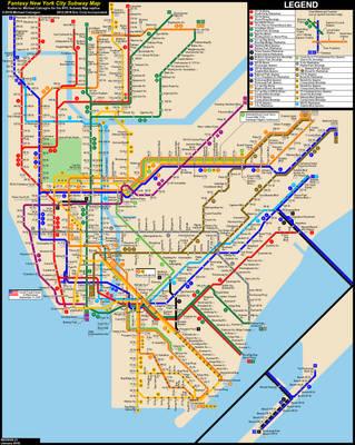 Fantasy Nyc Subway Map.Nyc Subway Fantasy Map Revision 23 By Ecinc2xxx On Deviantart