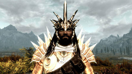 Ulfgar with the Crown of the Dragonborn by DarkstormZero