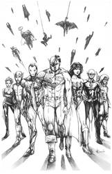 Commission - JLA/Avengers Commission by AenTheArtist