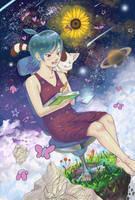 Doodling in space by Tsukinopandaaa