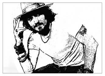 Johnny depp - leaning by SamLorraineGill