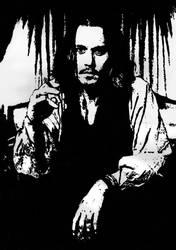 Johnny Depp - Smoking by SamLorraineGill