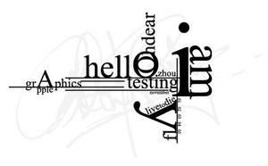 typography sht by zhoumlh