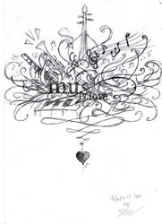 MUSIC IS LOVE. by zhoumlh