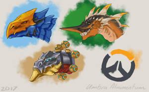 Overwatch Dragons Batch 1 by UmbraAtramentum