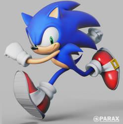 Uekawa Sonic Render by BlueParadoxYT