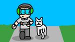 Spongecat1 - Game-Boy and Skye running by JennyRichardBlakina