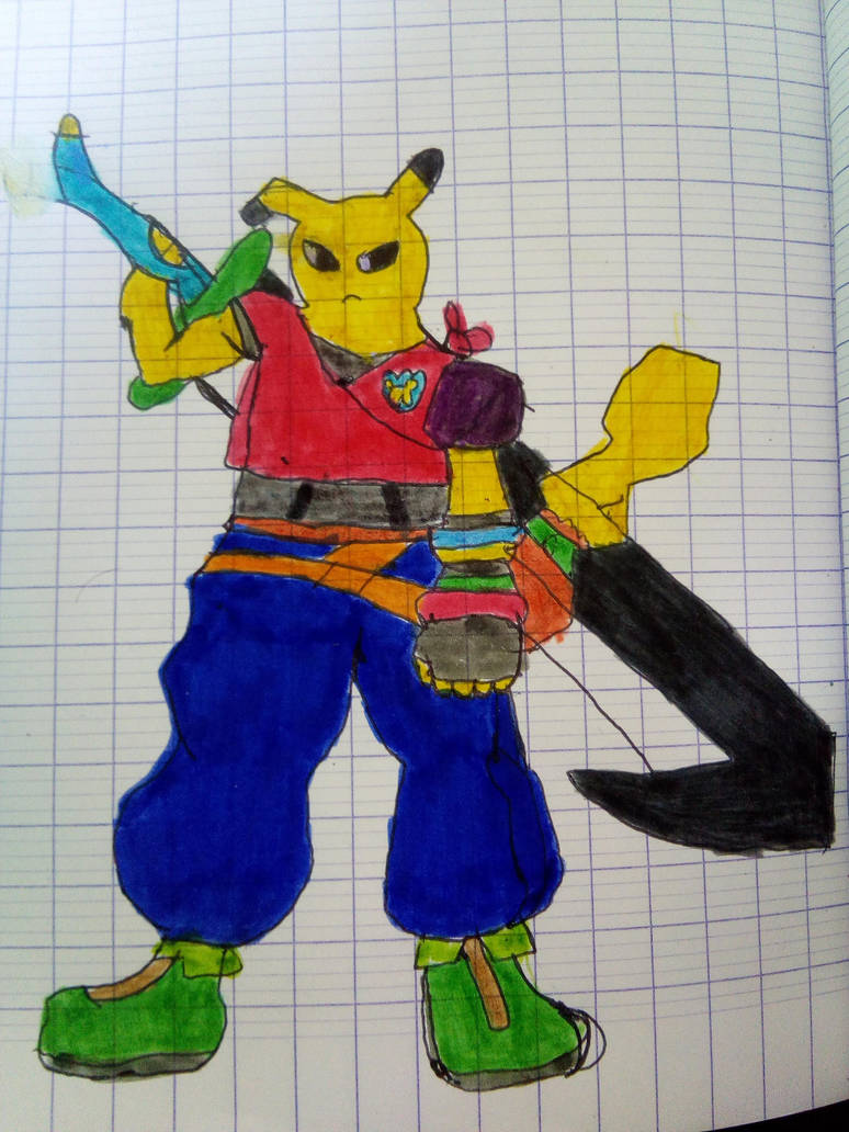 pika the dark slayer ff7 style by Quentix-hope