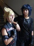 Prompto and Noctis (Final Fantasy XV) by Groucho91