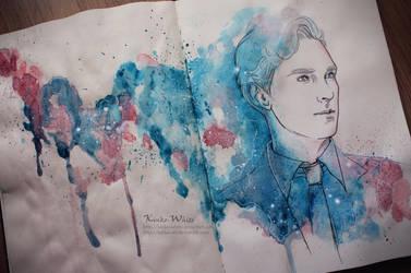 Bright blue eyes by Kinko-White