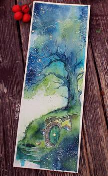 Oak tree Fireflies by Kinko-White