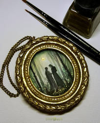 Arwen and Aragorn by Kinko-White