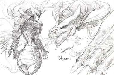 Shyvana by yunojiny