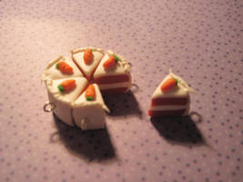 Sculpey Carrot Cake charms by Lisa99