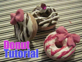 3D clay donut charm with video tutorial by Lisa99