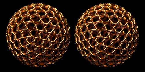 Geodesic Gold Weave by TaffGoch