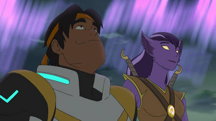 Charis and Hunk behold Aurora by Dragonauroralight