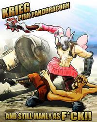Krieg: Pink Pandoracorn by SmudgedPixelsArt