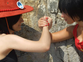 We fight together,One Piece cosplay,Ann + Rufyko by Mellorineeee