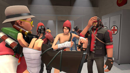 -SFM- Meanwhile in Red Spawn: Scammed (Remake) by LateNightBandicoot