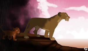 Ahadi as a cub by dyb