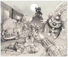 The Mini Clowns by WolfieArtGuy