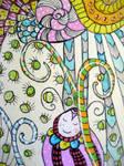 ATC Dreaming Bug by dragonflywatercolors