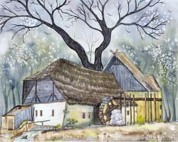 Krabat Water Mill by dragonflywatercolors
