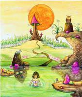 Little Mermaid by dragonflywatercolors