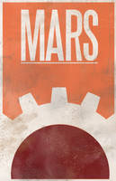 40k mars travel poster by jwagnaar