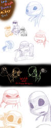 TMNT Pizzaface and Parasitica Sketches by MetaLatias5