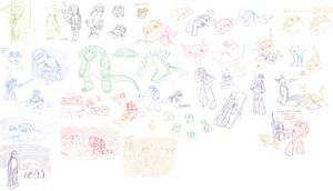 Random old TMNT Sketches by MetaLatias5