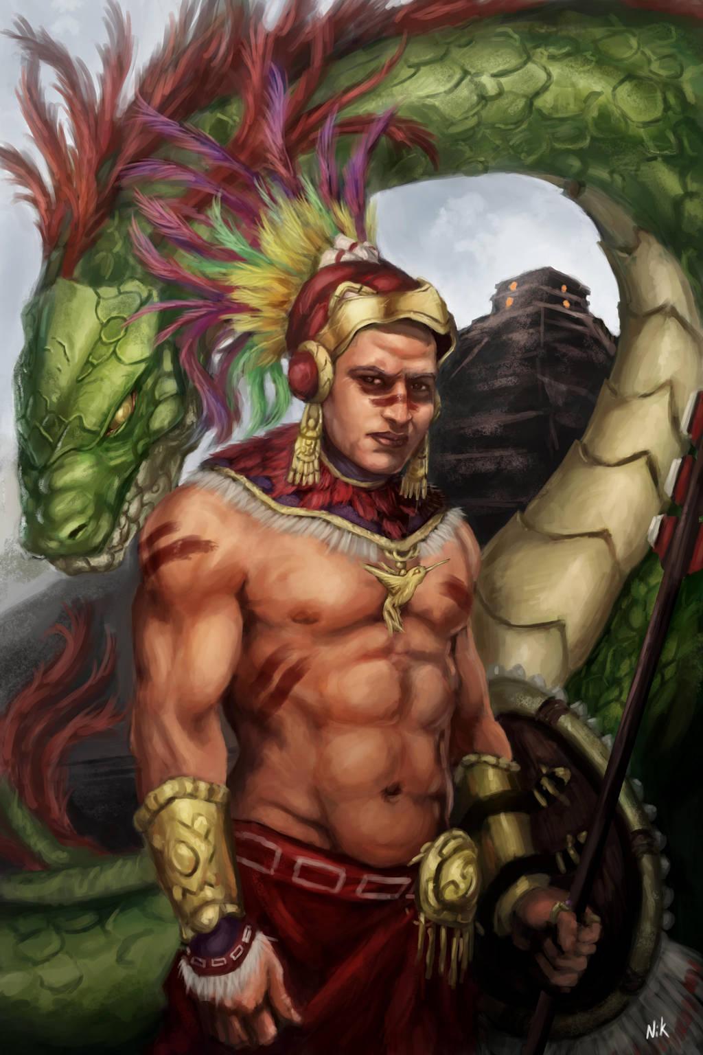Aztec Warrior by sk8rnik