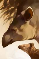 Endangered Ark - Lowland Tapir by shoomlah