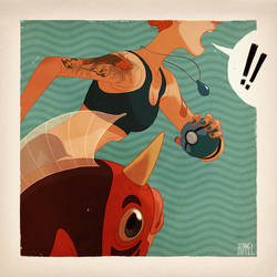 Pokemon Battle Royale - Seaking by shoomlah